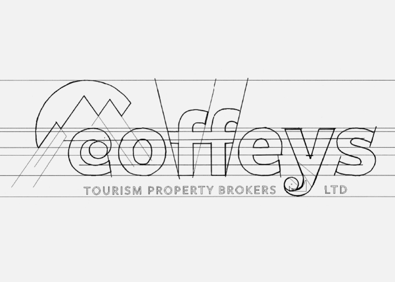 Coffeys Tourism Property Brokers Creative Logo Design