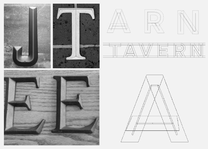 Terrace Tavern Custom Logo Design
