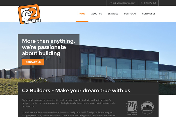 website for C2 Builders Christchurch