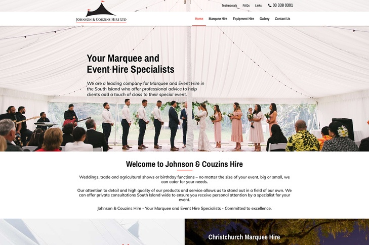 website for johnson & cousins hire