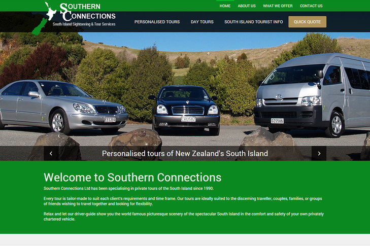 website design for Southern Connections