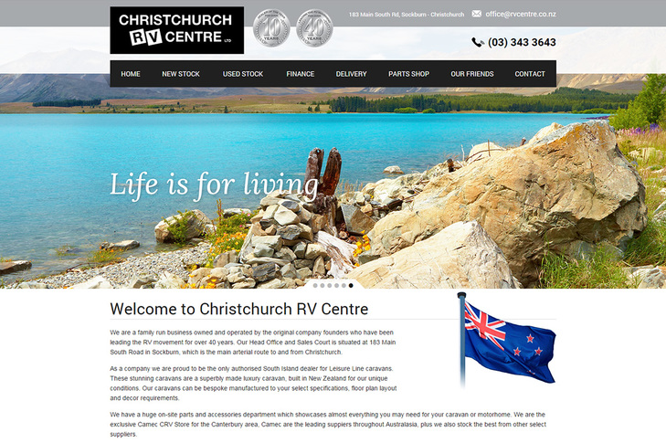 website design for Christchurch RV centre