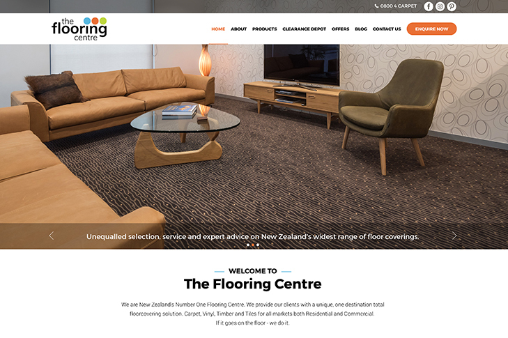 website design for The Flooring Centre Christchurch