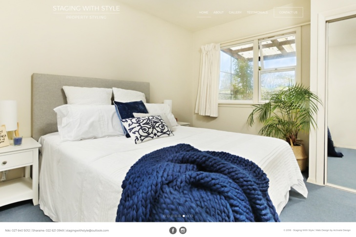 website for Staging with Style Christchurch