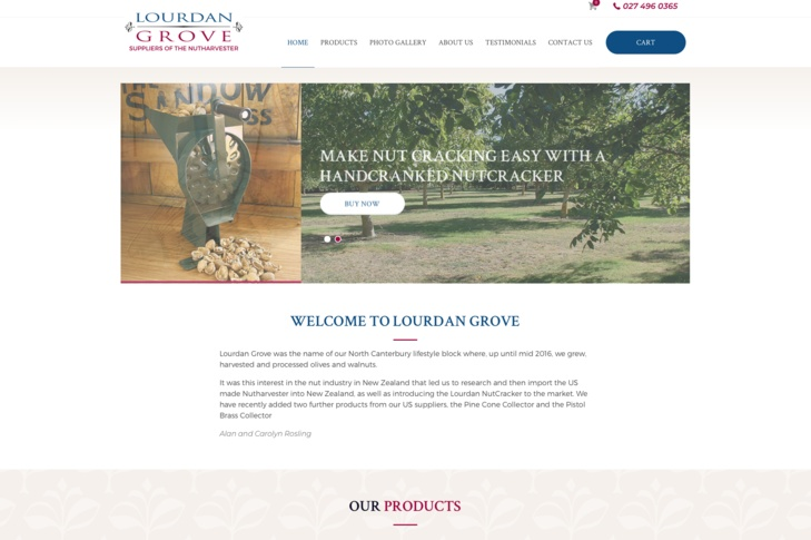 website for Lourdan Grove