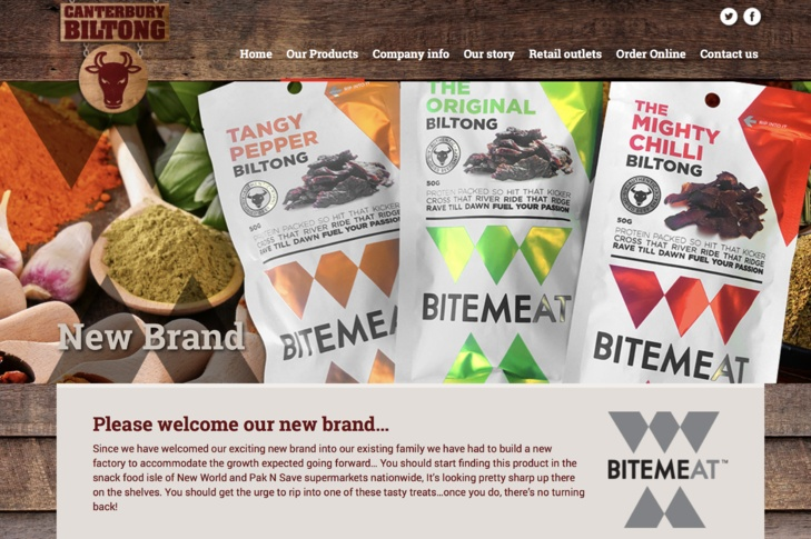 website design for Canterbury biltong Christchurch