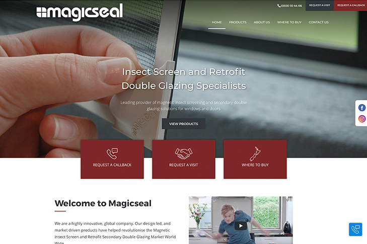 website design for magicseal