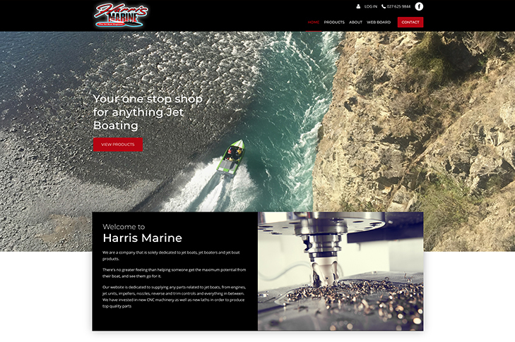 website design for Harris marine