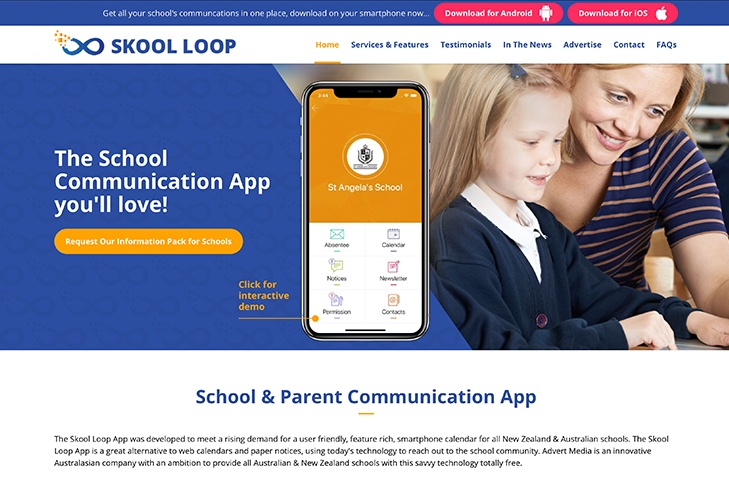 website design for skool loop