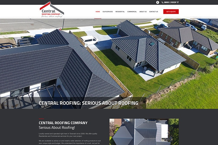website design Christchurch central roofing