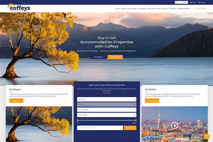 Christchurch website design for Coffeys