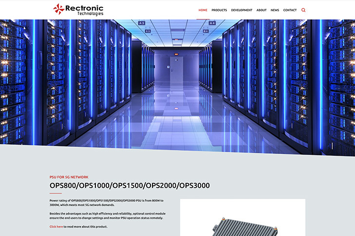 website design for retronic technologies