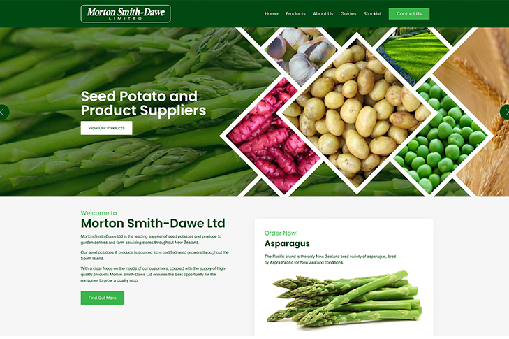 website for Morton Smith-Dawe Christchurch
