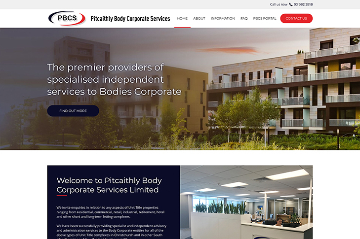 website design for pics in Christchurch